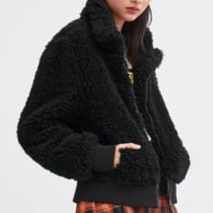 Cozy Fleece Bomber Jacket